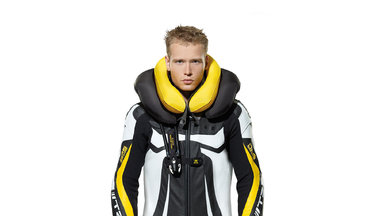 SPIDI T-2 NECK DPS Airbag Leather Wind Pro Suit