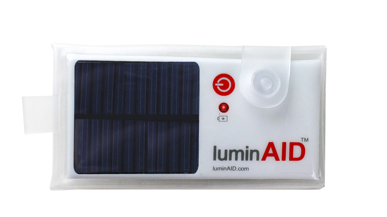 LuminAID: A Solar Powered Inflatable Light
