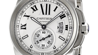 Cartier Calibre Men's Silver Opaline Dial Wrist Watch