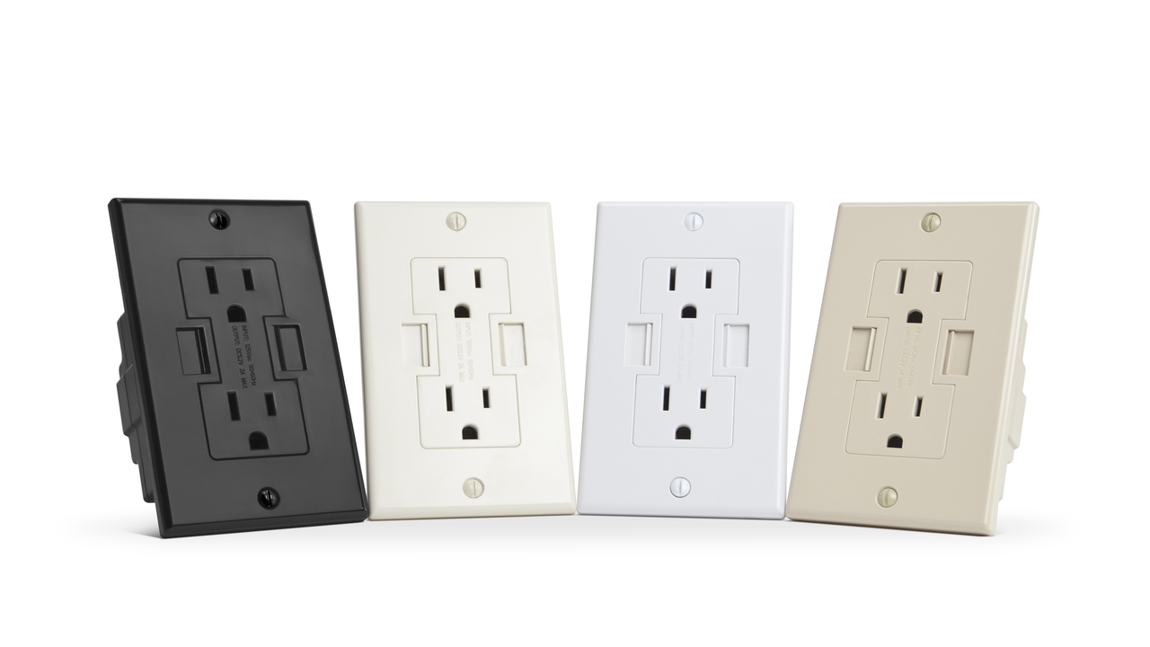 Power2U AC Wall Outlet with USB Charging Ports