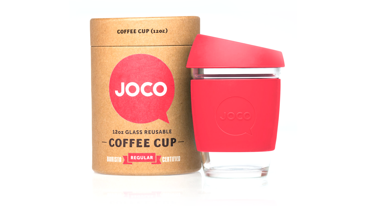 JOCO Glass Reusable Coffee Cups