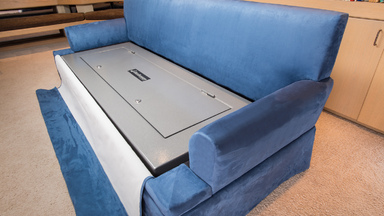 CouchBunker Features a Hidden Safe with Bullet Proof Cushions
