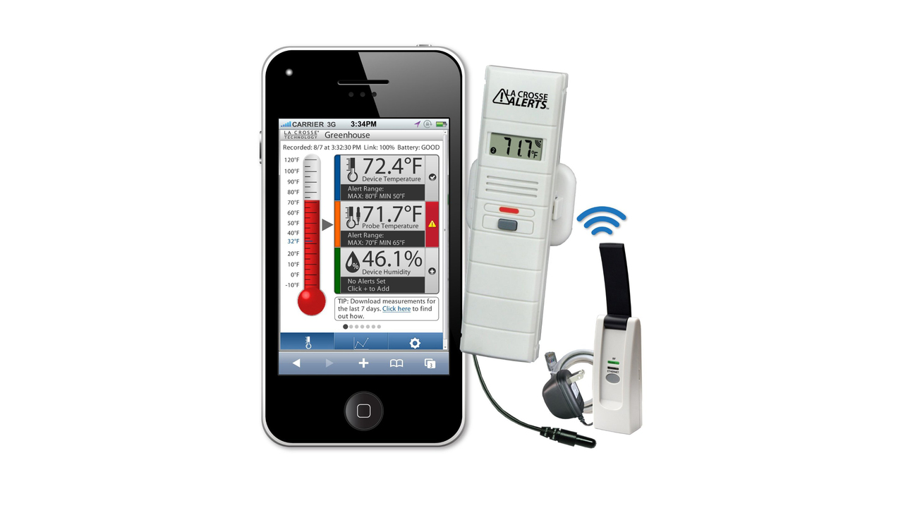 La Crosse Technology Wine Cellar Wireless Temperature and Humidity Monitor