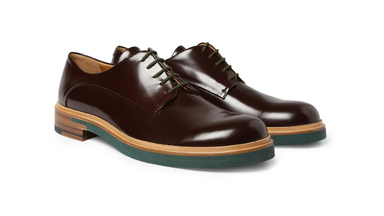 Jil Sander Patent-Leather Derby Shoes