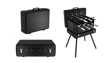 The Epicoa Portable Briefcase Rotisserie Grill