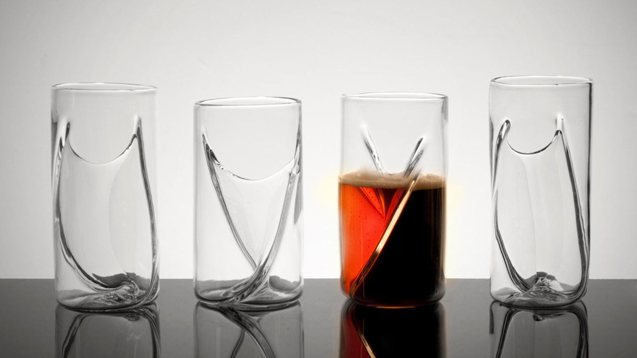 Dual Beer Glass by the Pretentious Beer Glass Company