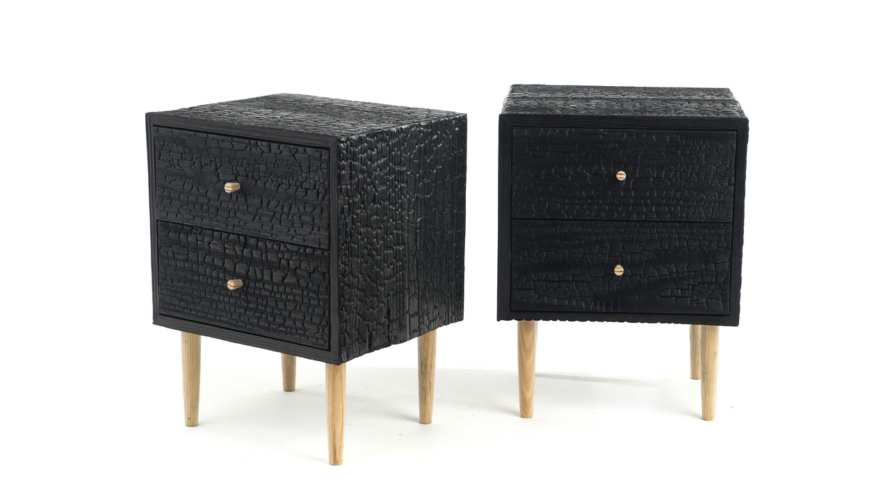Charred Commode by MJM Furniture
