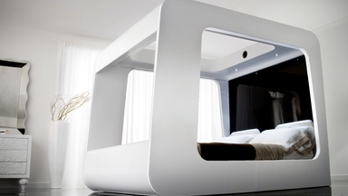 Hi-Can High Fidelity Canopy Bed with Cinema  and Xbox