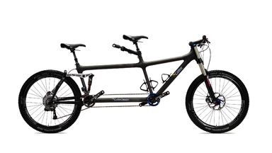 Fully Active Full Suspension Off-Road tandem by Calfee Design