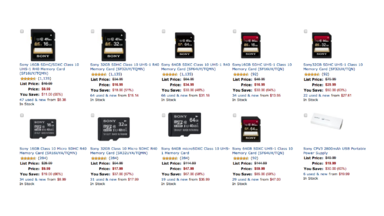 Today Only, Up to 70% Off Sony SD and microSD Memory Cards