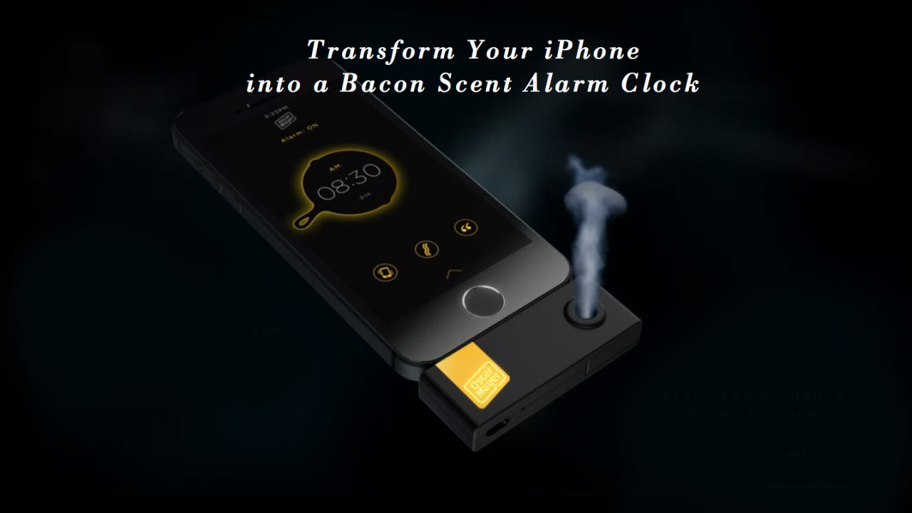 Oscar Mayer iPhone Alam that Wakes You Up to the Smell of Bacon