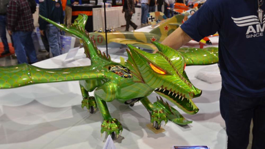 The Flying Fire Breathing RC Dragon