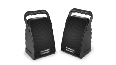 Hammacher Schlemmer Long Range Wireless Stereo Speakers