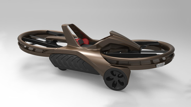 Aero-X Motorcycle Like Hovercraft