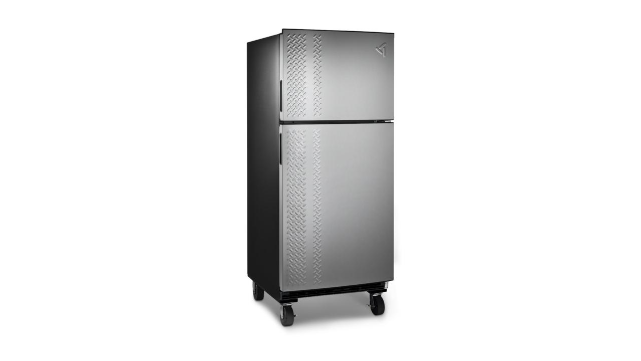fridge garage glass clear door drink with refrigerator