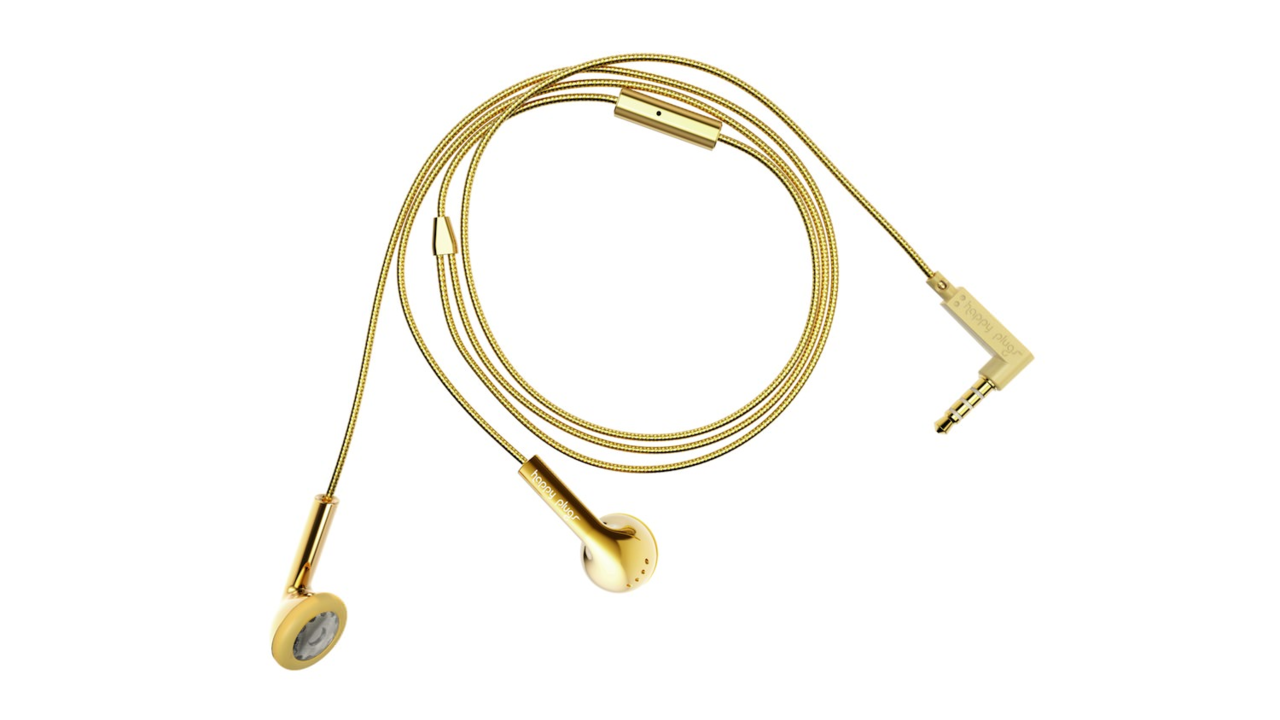 Happy Plugs: 18-Carat Gold Deluxe Earbud Edition