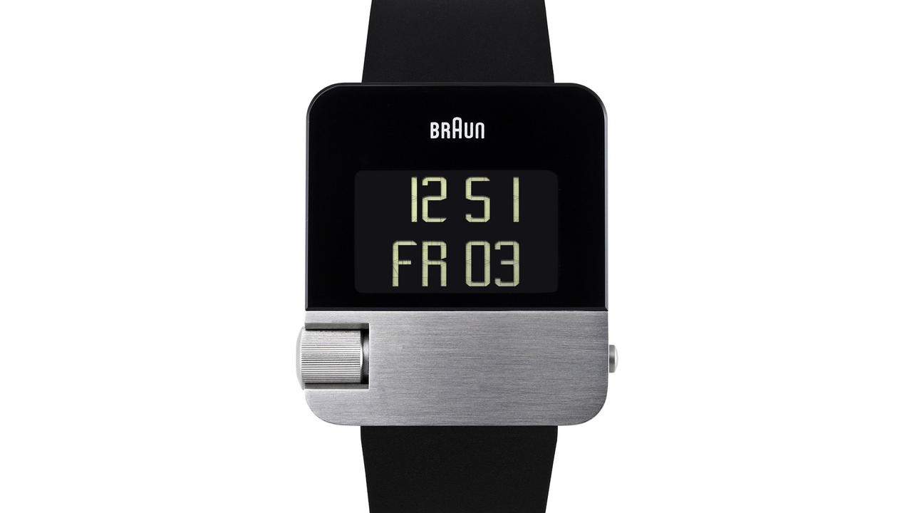 Braun BN10 Digital Watch With EasySkroll
