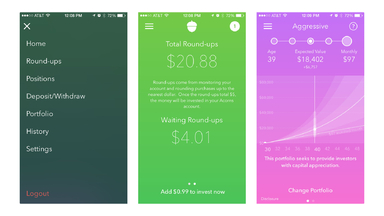 Invest Spare Change in Index Fund Stocks with the Acorns App