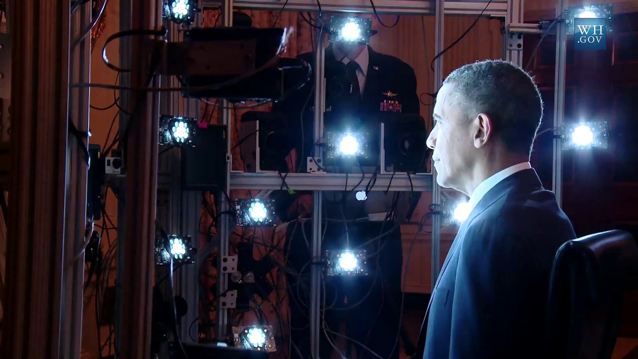 Smithsonian Displays 3-D Portrait of President Obama [Video]