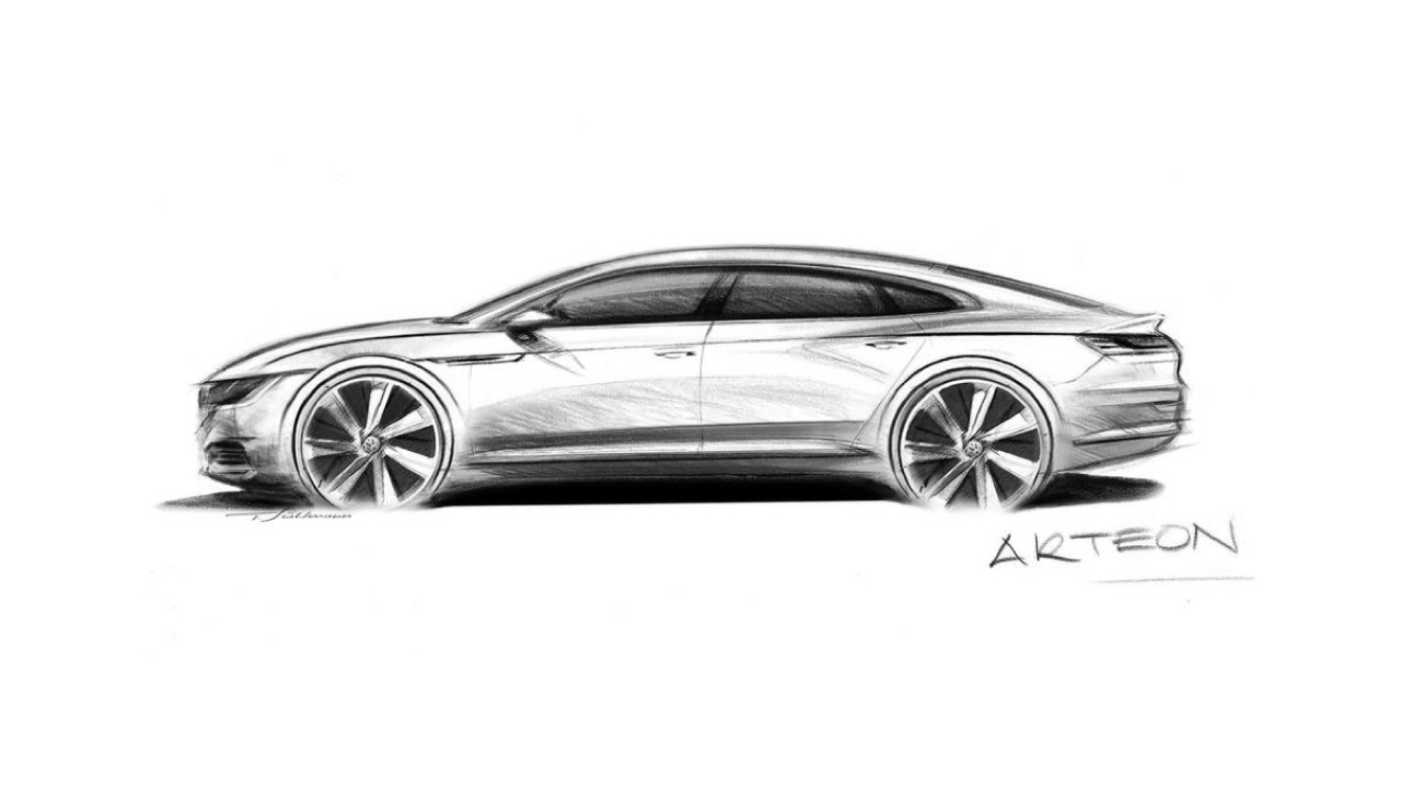 Volkswagen Arteon Preview Sketch