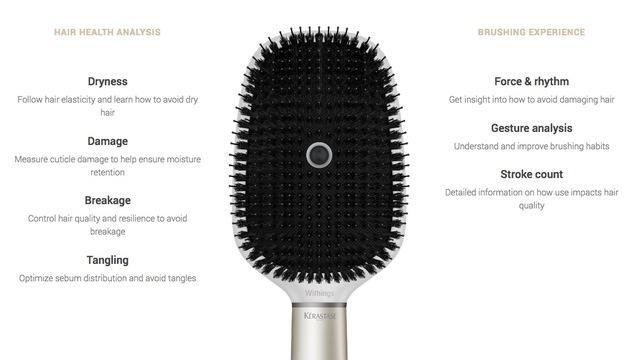 Desire This Kérastase Hair Coach Smart Brush Powered By Withings