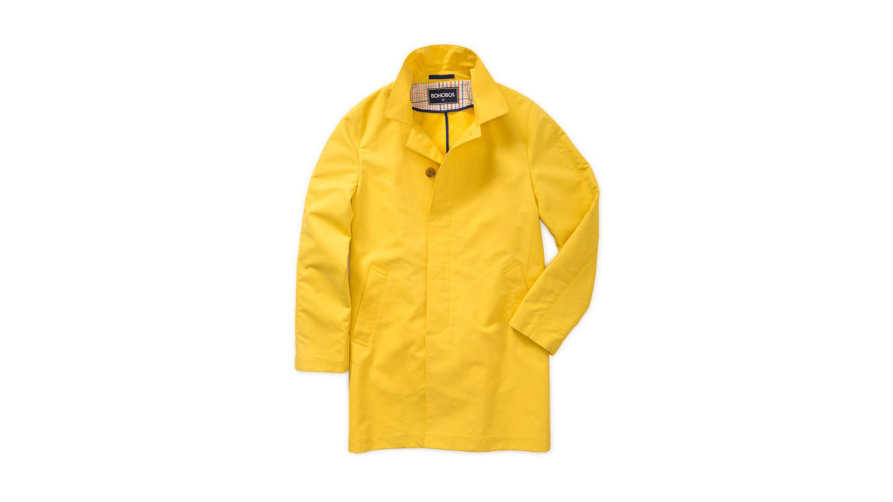 Bonobos Treated Cotton Yellow Trenchcoat