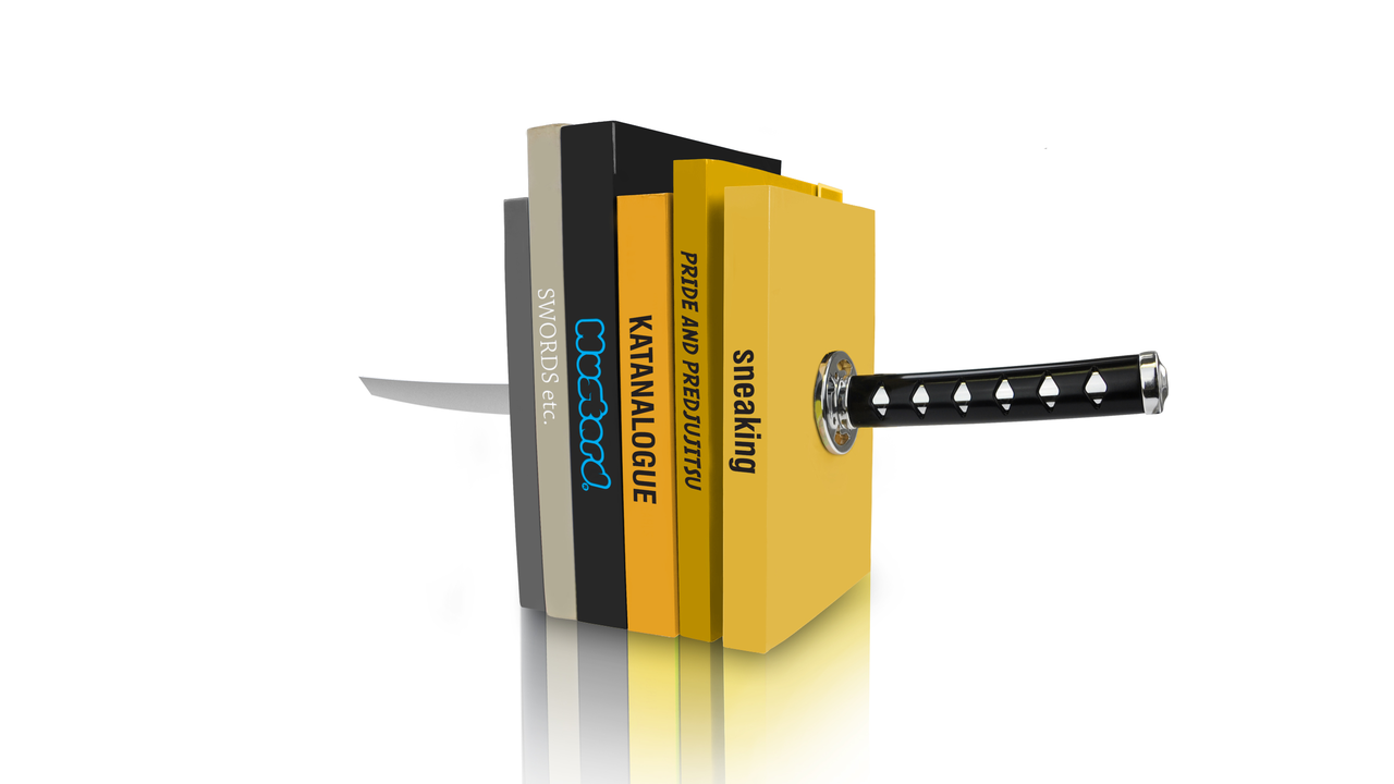 Katana Sword Bookends by Mustard