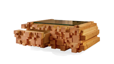 Log Pile Coffee Table by Purcell Living
