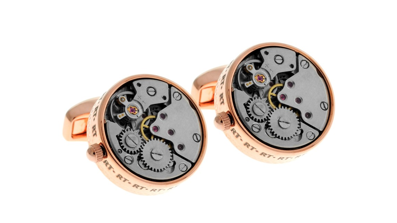 Rose Gold Mechanical Cufflinks by Tateossian