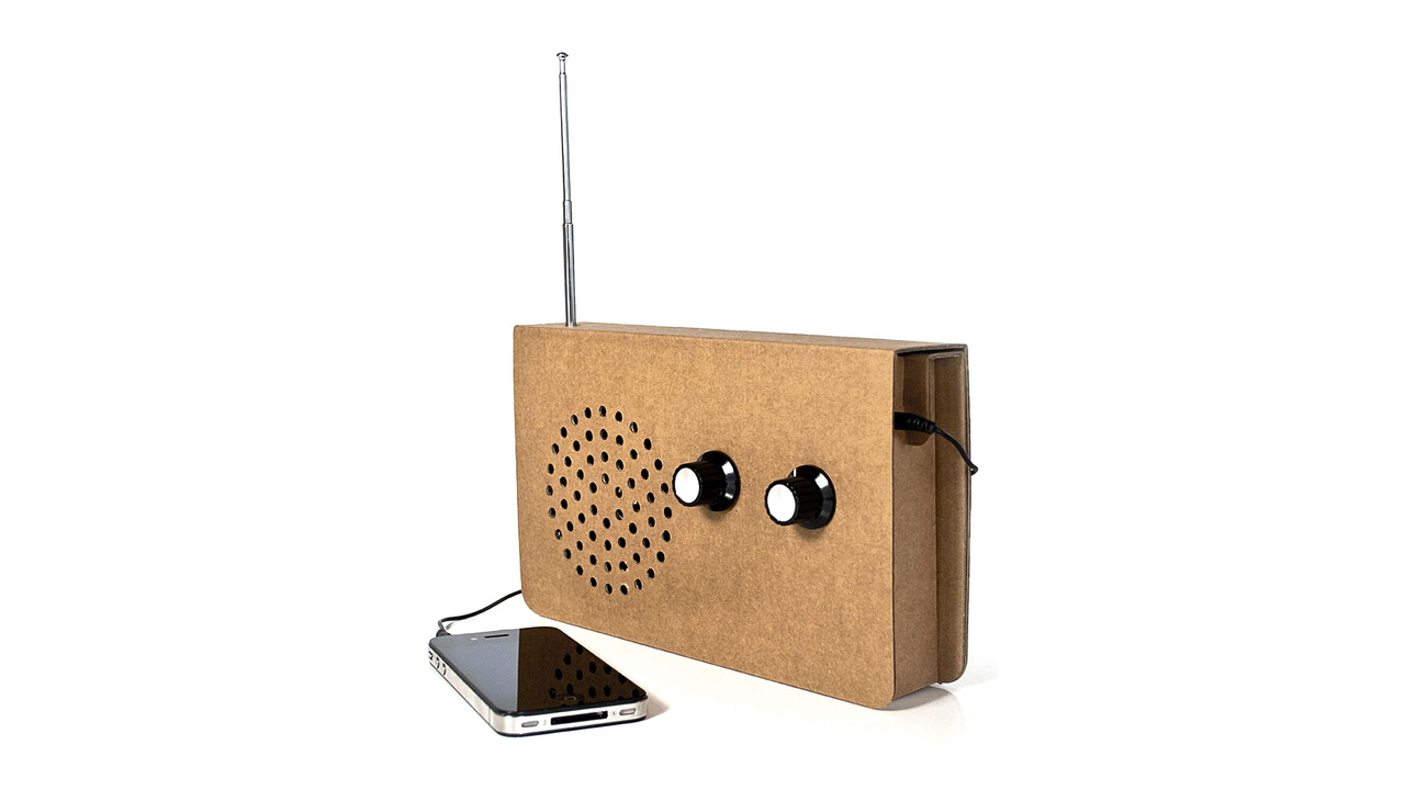 Cardboard Radio Receiver by Suck UK