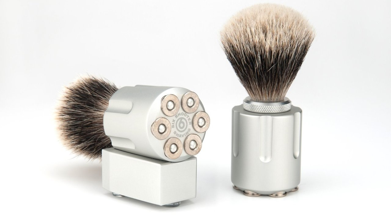 Hand Crafted Six Shooter Shave Brush