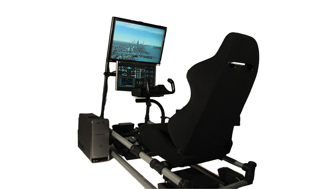 Cockpit Flight Simulator with Realistic Controls