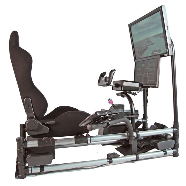 Desire This Cockpit Flight Simulator With Realistic Controls