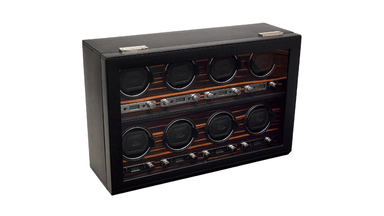 Wolf Designs Roadster 2.7 Eight Module Cover Ebony Watch Winder