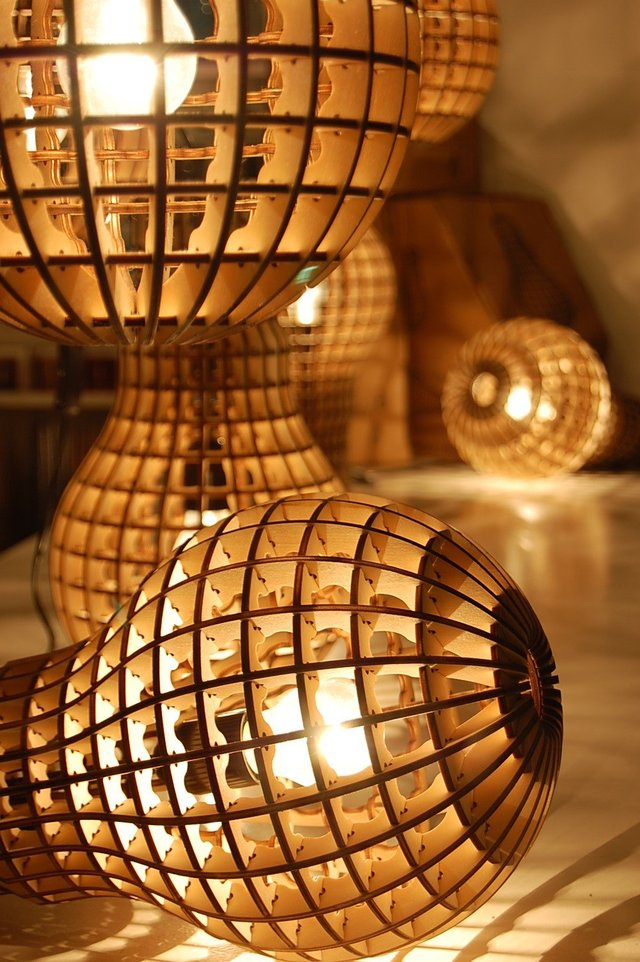 Desire This Laser Cut Plywood Light Bulb Lamp