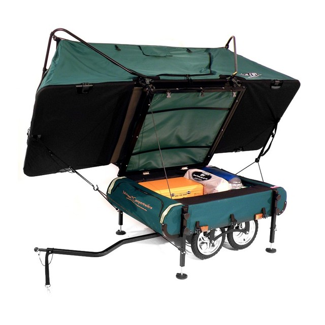 ... off the ground sleeping quarters ? 120-liters of storage makes a multiple day trip a breeze ? Trailer frame made of lightweight aluminum covered with ...  sc 1 st  Desire This & Desire This | Kamp-Rite Midget Bushtrekka Bicycle Camper Trailer ...